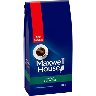Maxwell House Decaf Ground Coffee, 280g