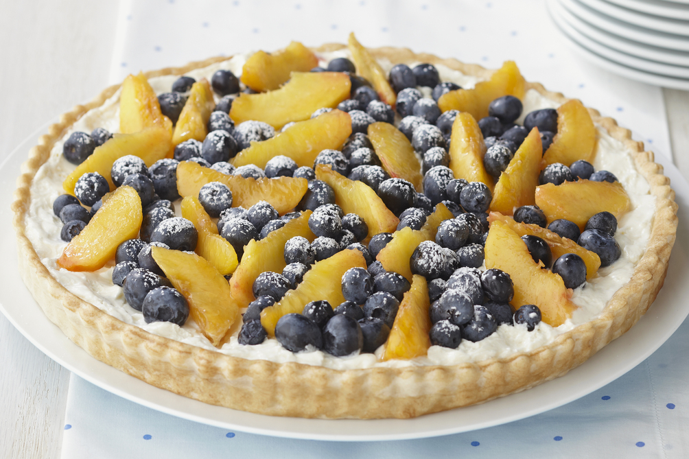Blueberry & Peach Cream Tart