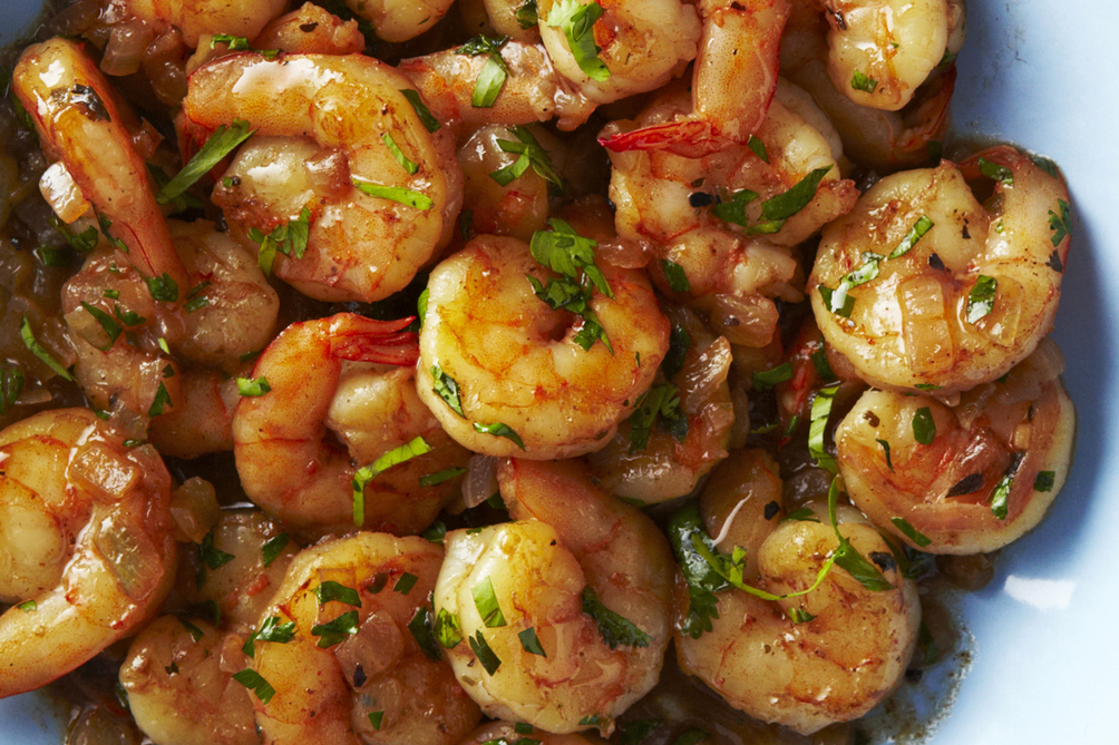 Lemon-Cilantro Shrimp for Two