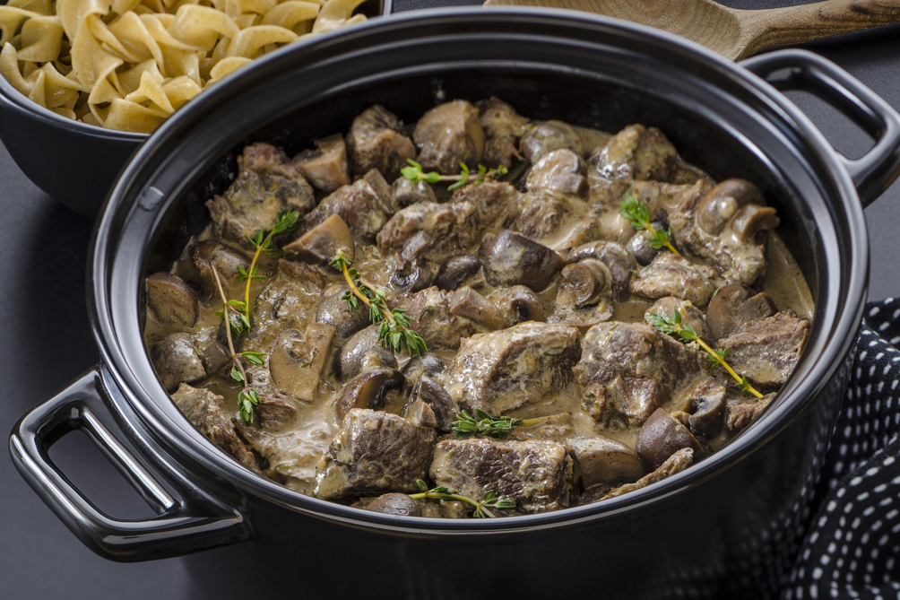 Slow-Cooker Beef Stroganoff Made Over