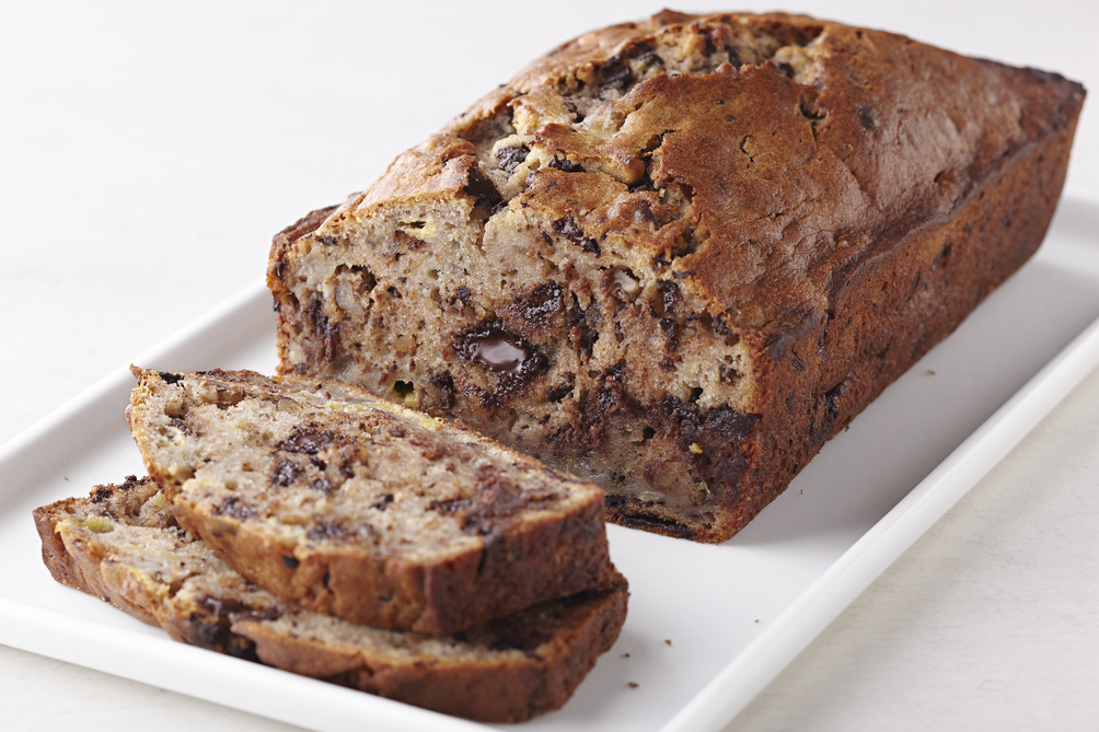 Chocolate Chunk-Walnut Banana Bread