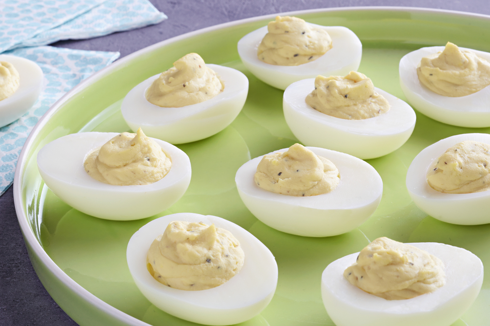 Caesar Devilled Eggs