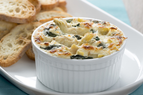 Warm Caesar Asiago Spinach Dip