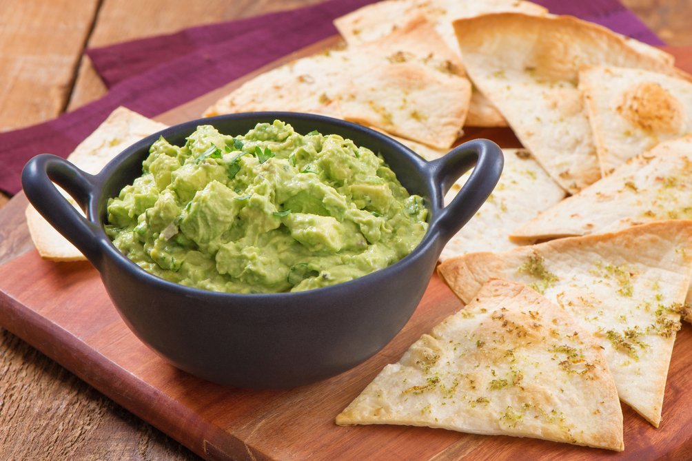 Easy Homemade Tortilla Chips with Chipotle Guacamole