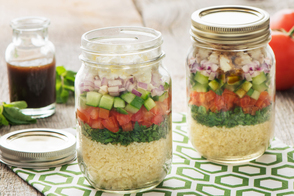 Layered Tabbouleh Salad in a Jar