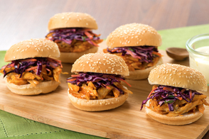 Pulled Chicken and Red Slaw Sliders