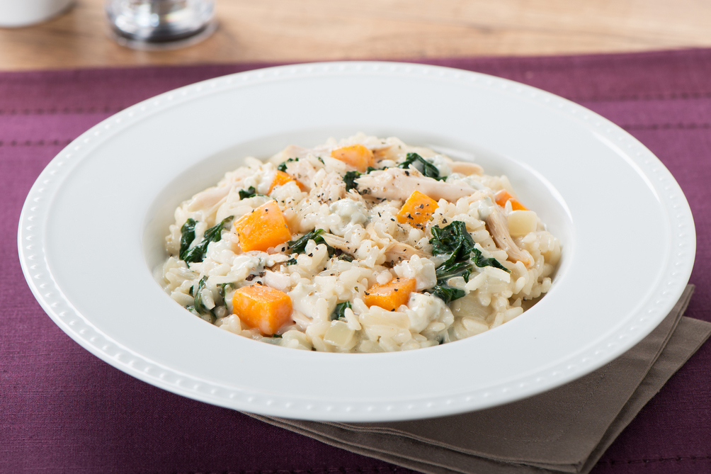 Chunky Blue Cheese and Chicken Risotto