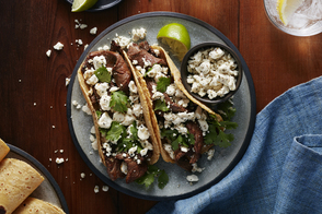 Easy Steak & Feta Tacos