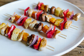 Spicy Tropical Chicken Kabobs