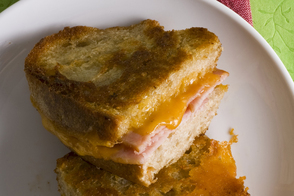 Grilled Cheese Sandwich with Peameal Bacon