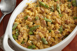 Oven-Baked Asparagus-Ham Mac & Cheese