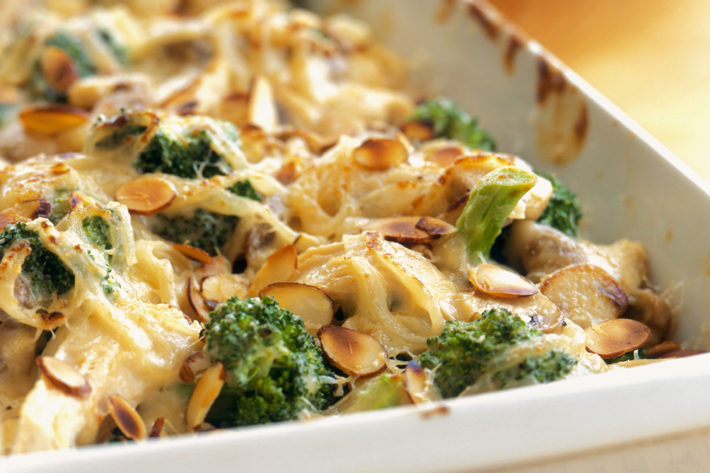 Turkey and Broccoli Casserole au Gratin