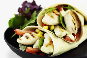 Fresh Lunch-Time Chicken Wrap
