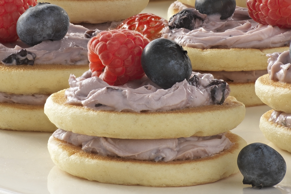 Mixed Berry-Mini Pancake Stacks