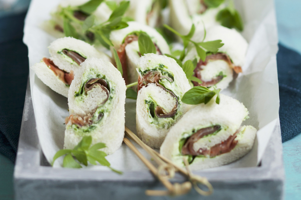 Prosciutto-and-Basil Sandwich Rolls
