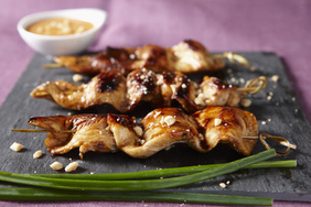 Sweet'n Sticky Chicken Skewers with Peanut Sauce