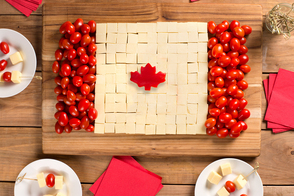 Canada Day Cheese Board