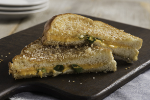 Panko-Crusted Sriracha Grilled Cheese