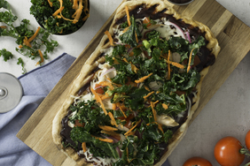 BBQ Chicken Pizza with Kale Slaw