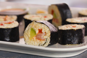 Grain-Free Spicy Shrimp Maki Sushi