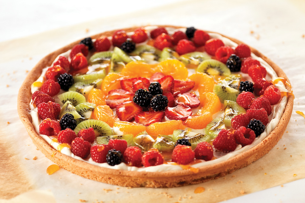 Easy Cream Cheese-Fruit Pizza