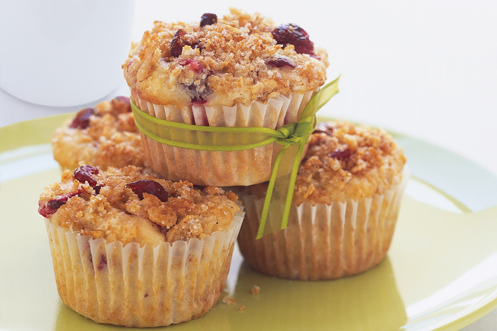 Double Cranberry Muffins