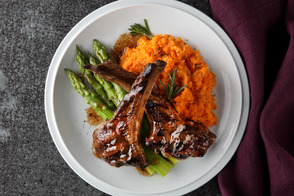 Barbecued Balsamic and Mint Lamb Chops