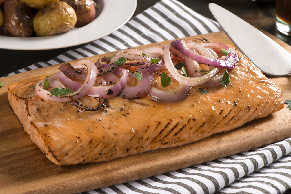 Cedar-Planked Maple-Glazed Salmon