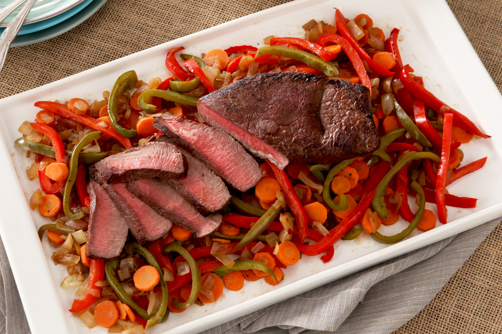Balsamic Pan-Roasted Beef and Pepper Dinner