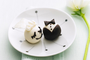 Bride & Groom Cookie Balls