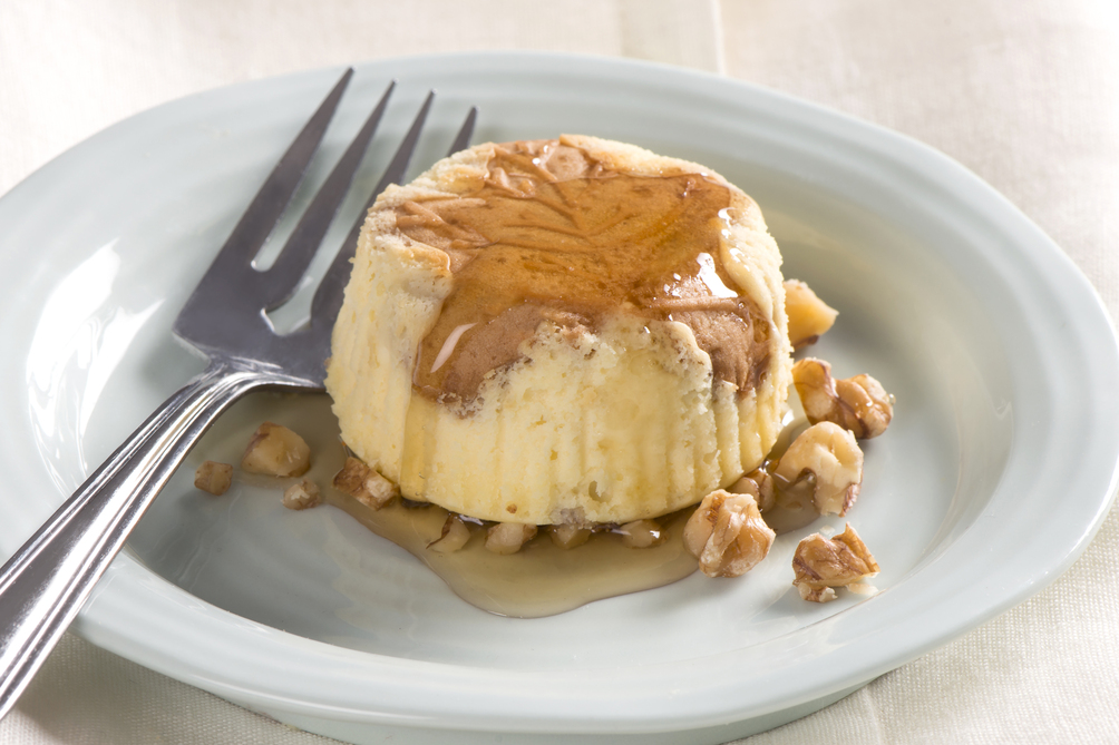 Mini Maple-Walnut Cheesecakes