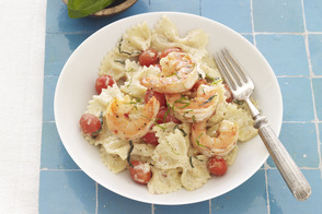 Creamy Tomato-Basil Pasta with Shrimp