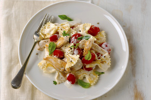 Creamy Chicken and Cherry Tomato Bow Ties