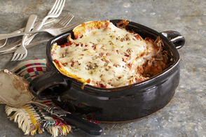 Layered Guajillo Chicken Bake