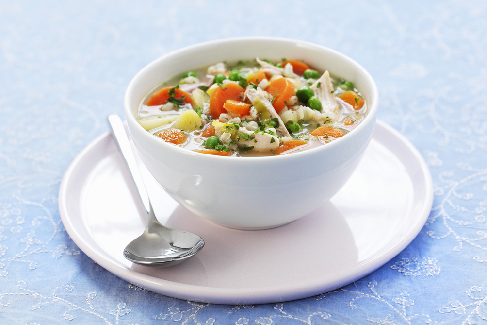 Chicken Vegetable Soup with Orzo
