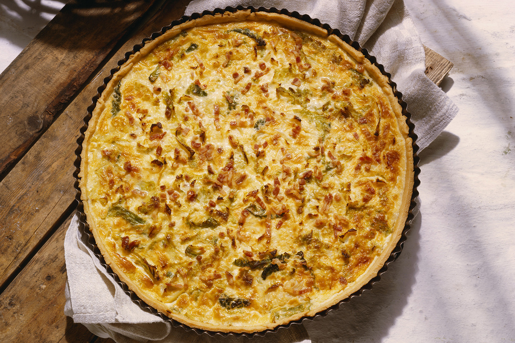 Savoury Cheese and Bacon Quiche