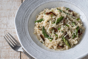 Asparagus and Bacon Risotto