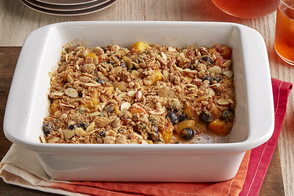Quick Peach-Blueberry Crisp