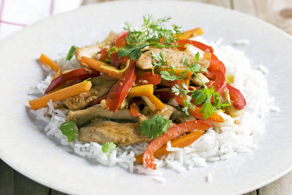 Asian Chicken Stir-Fry with Peppers