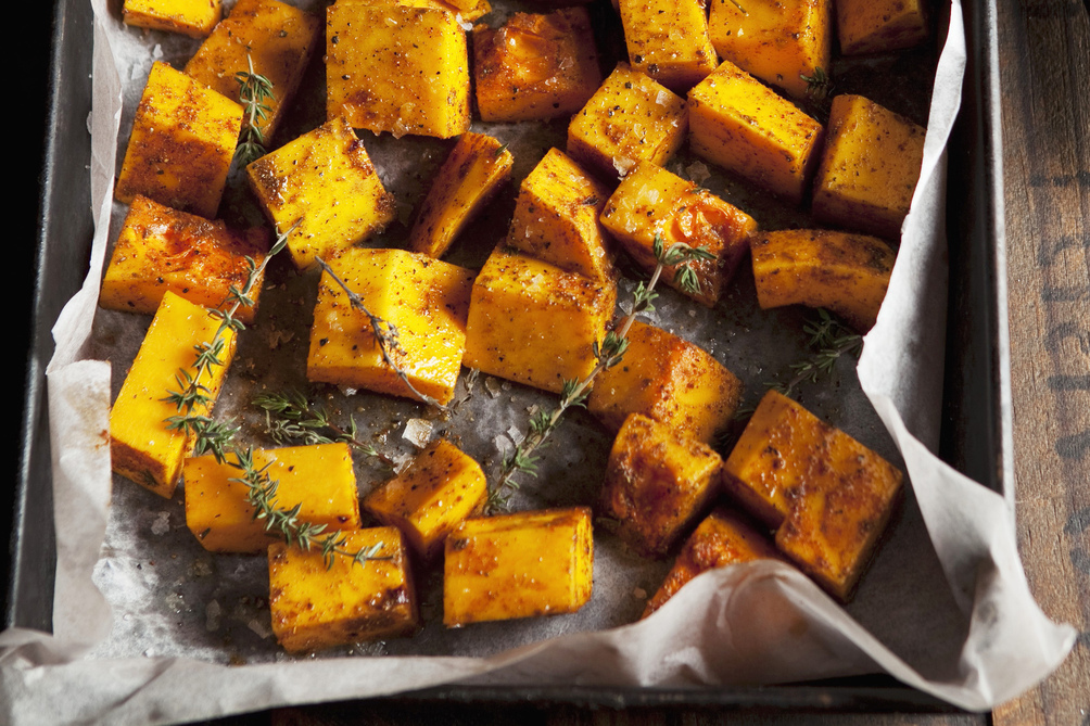 Balsamic Roast Squash with Thyme