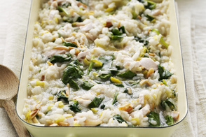 Oven-Baked Chicken and Spinach Risotto