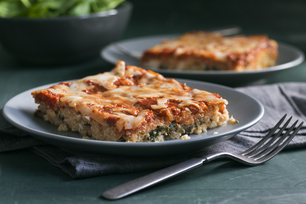 "Spinach and Ricotta Quinoa ""Lasagna"""