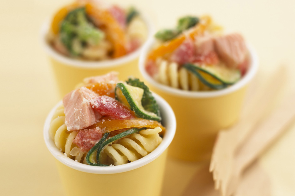 Pasta Salad with Salmon and Veggies