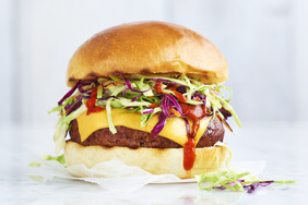 Cheesy Sriracha Burger