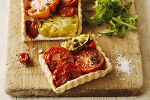 Creamy Heirloom Tomato Tart