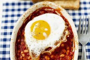 Smoky Beans and Crispy Eggs