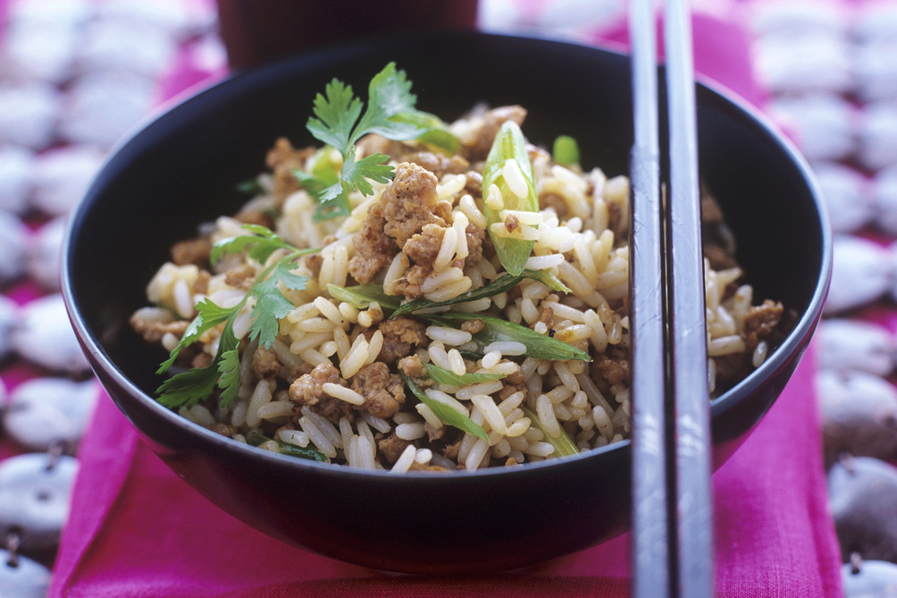 Chicken Fried Rice with Cilantro