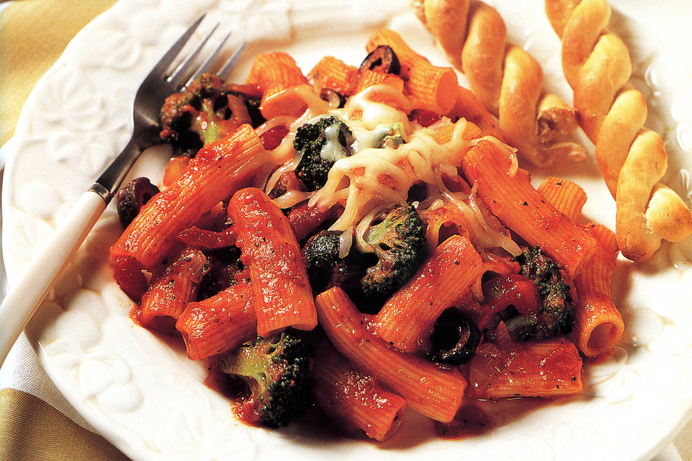 Baked Rigatoni with Broccoli and Cheese