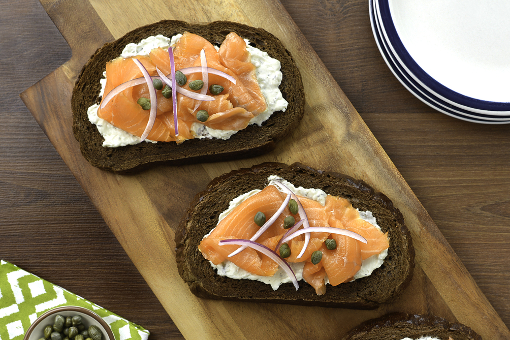Open-Face Smoked Salmon Sandwich