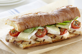 Chicken and Brie Sandwich with Pan-Charred Cherry Tomatoes